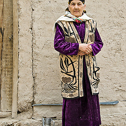 Woman in the street Khiva, Uzbekistan, Asia
