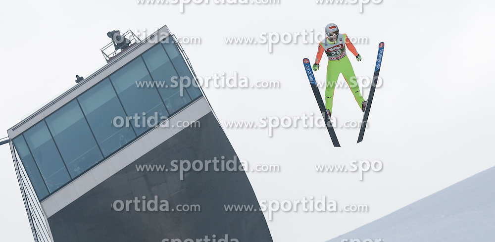 03.01.2015, Bergisel Schanze, Innsbruck, AUT, FIS Ski Sprung Weltcup, 63. Vierschanzentournee, Innsbruck, Training, im Bild Ronan Lamy Chappuis (FRA) // Ronan Lamy Chappuis of France soars through the air during a training session for the 63rd Four Hills Tournament of FIS Ski Jumping World Cup at the Bergisel Schanze in Innsbruck, Austria on 2015/01/03. EXPA Pictures © 2015, PhotoCredit: EXPA/ Jakob Gruber
