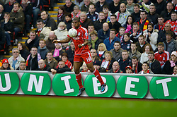 LIVERPOOL, ENGLAND - Saturday, January 26, 2008: Liverpool's Ryan Babel in action against Havant and Waterlooville during the FA Cup 4th Round match at Anfield. (Photo by David Rawcliffe/Propaganda)