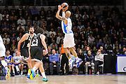 DESCRIZIONE : Eurolega Euroleague 2014/15 Gir.A Dinamo Banco di Sardegna Sassari - Real Madrid<br /> GIOCATORE : David Logan<br /> CATEGORIA : Tiro Tre Punti Three Point Controcampo<br /> SQUADRA : Dinamo Banco di Sardegna Sassari<br /> EVENTO : Eurolega Euroleague 2014/2015<br /> GARA : Dinamo Banco di Sardegna Sassari - Real Madrid<br /> DATA : 12/12/2014<br /> SPORT : Pallacanestro <br /> AUTORE : Agenzia Ciamillo-Castoria / Claudio Atzori<br /> Galleria : Eurolega Euroleague 2014/2015<br /> Fotonotizia : Eurolega Euroleague 2014/15 Gir.A Dinamo Banco di Sardegna Sassari - Real Madrid<br /> Predefinita :