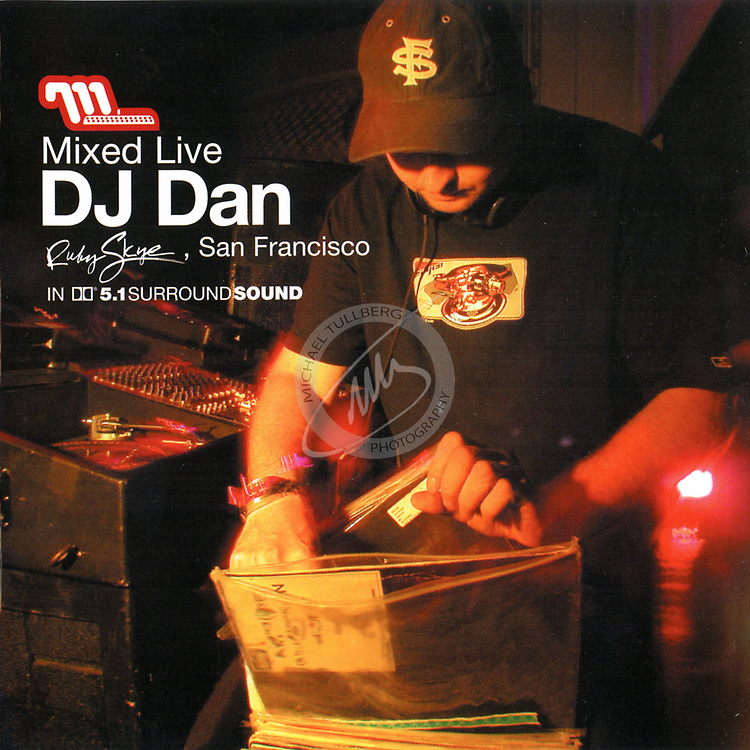 "CD Cover for DJ Dan's ""Mixed Live"" album, from Moonshine Music."