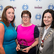 23.05.2018.       <br /> Today, the Institute of Community Health Nursing (ICHN) hosted its2018 community nurseawards in association withHome Instead Senior Care,at its annual nursing conference, in the Strand Hotel Limerick, rewarding public health nurses for their dedication to community care across the country. <br /> <br /> Pictured are, Amanda Bohan, Owner and Managing Director from Home Instead Senior Care Kildare and Laois, with ICHN President Anne Lynott, presenting Emer Casey, Registered General Nurse Maynooth, Co Kildare, winner of the ICHN Nurse Award. Emer demonstrates her ability to work in partnership with the patient, families, healthcare disciplines and voluntary agencies by advocating tirelessly on behalf of the patient when managing complex cases and following up delays in receiving services. She has achieved excellent outcome for a complex case as she worked alongside the safeguarding vulnerable adult service, home care package and home help service over a long period of time. It was Emer's persistence in requesting and coordinating the services that allowed the patient to successfully stay in his own home with supports. Emer demonstrates a continuing commitment to the principles of excellent nursing care.  Picture: Alan Place