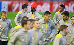 21.10.2014, Anfild, Liverpool, ESP, UEFA CL, FC Liverpool vs Real Madrid, Gruppe B, Training FC Liverpool, im Bild Liverpool's Mario Balotelli // during training session of Liverpool FC ahead of the UEFA Champions League Group B match between Liverpool FC and Real Madrid CF at Anfild in Liverpool, Great Britain on 2014/10/21. EXPA Pictures © 2014, PhotoCredit: EXPA/ Propagandaphoto/ David Rawcliffe<br /> <br /> *****ATTENTION - OUT of ENG, GBR*****