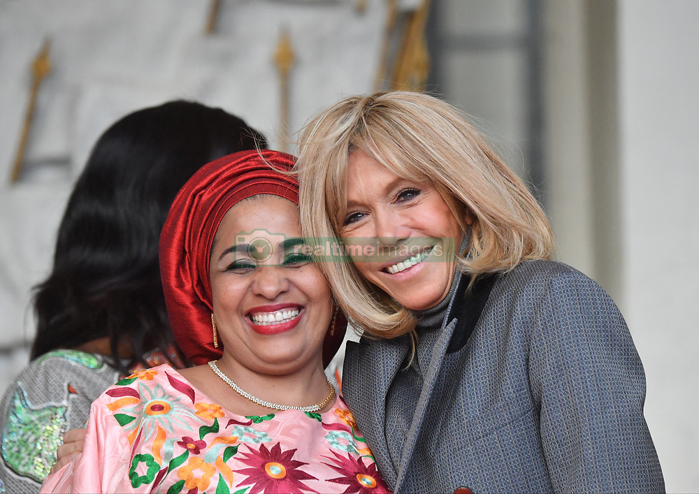 Exclusive - France's first lady Brigitte Macron welcomes Niger's first lady Lalla Malika Issoufou at the Elysee presidential palace in Paris, France, on November 12, 2019. Photo by Christian Liewig/ABACAPRESS.COM