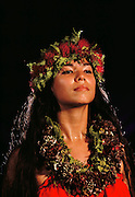 Haunani Phillips. Hilo Hawaii, USA, Hula contest. MODEL RELEASED.