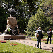 Monument to Nikolai Przhevalski in the Alexander Garden in Saint Petersburg, Санкт-Петербург, the second largest city in Russia, located on the Neva River near the Baltic Sea.<br /> Photography by Jose More
