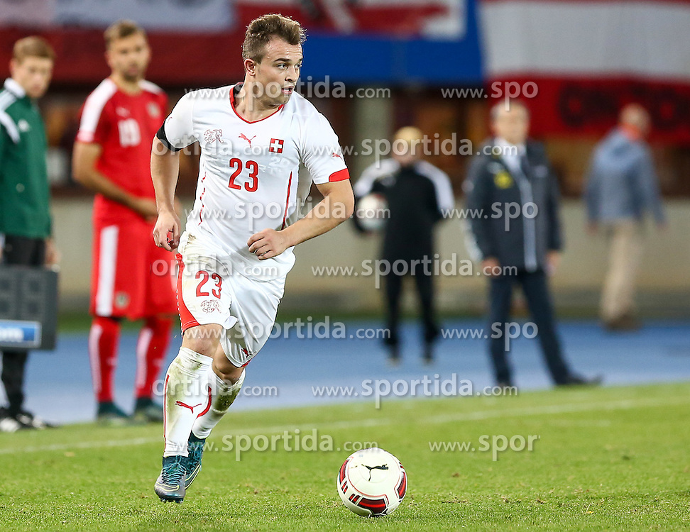 17.11.2015, Ernst Happel Stadion, Wien, AUT, Testspiel, Österreich vs Schweiz, im Bild Xherdan Shaqiri (SUI) // during the International Friendly Football Match between Austria and Switzerland at the Ernst Happel Stadion in Wien, Austria on 2015/11/17. EXPA Pictures © 2015, PhotoCredit: EXPA/ Alexander Forst