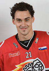 Klemen Pretnar at HK Acroni Jesenice Team roaster for 2009-2010 season,  on September 03, 2009, in Arena Podmezaklja, Jesenice, Slovenia.  (Photo by Vid Ponikvar / Sportida)