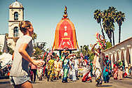 Hare Krishna float at the 2017 Fourth of July Parade in Ojai, California. ©Ciro Coelho/CiroCoelho.com. All Rights Reserved.