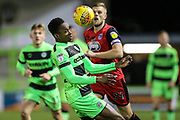 Forest Green Rovers Shawn McCoulsky(21) controls the ball during the EFL Sky Bet League 2 match between Forest Green Rovers and Grimsby Town FC at the New Lawn, Forest Green, United Kingdom on 22 January 2019.