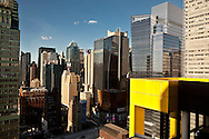 New York . elevated view on  times square skyline and midtown  /  le panorama de times square et midtown.