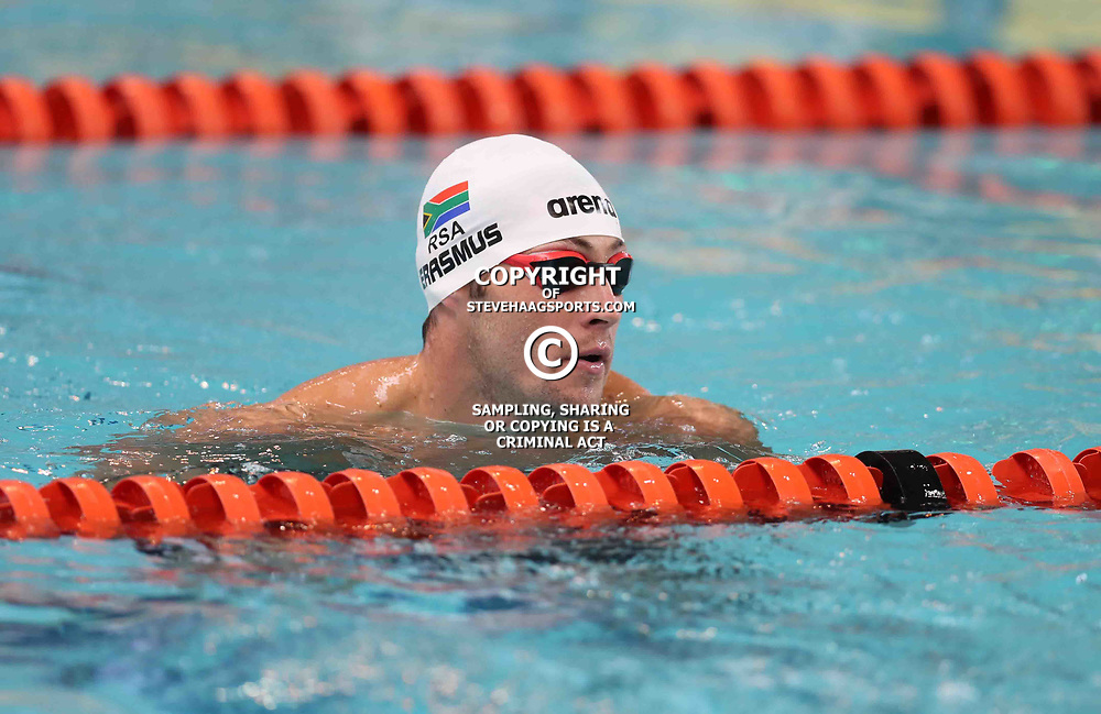 DURBAN, SOUTH AFRICA - APRIL 07: Douglas Erasmus Men 50 LC Meter Freestyle during day 5 of the 2017 SA National Aquatic Championships at Kings Park Aquatic Centre on April 07, 2017 in Durban, South Africa. (Photo by Steve Haag/Gallo Images)