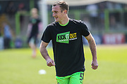 Forest Green Rovers Lee Collins(5) during the EFL Sky Bet League 2 match between Forest Green Rovers and Grimsby Town FC at the New Lawn, Forest Green, United Kingdom on 5 May 2018. Picture by Shane Healey.