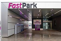 FastPark parking service at Edinburgh Airport, Scotland, UK