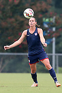 18 August 2014: Christie Rampone. The United States Women's National Team held a training session on Field 4 at WakeMed Soccer Park in Cary, North Carolina.