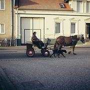 13.11.2016. Spazierfahrt auf der B1: Parchen ein kleines Dorf zwischen Burg und Genthin. Jeden Sonntag macht Peter Herbig einen Ausflug.<br /> <br /> &copy;Harald Krieg