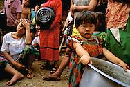 Burmese refugees in a Thai refugee camp.