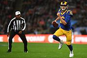 LA Rams Quarterback Jared Goff (16)  runs the ball during the International Series match between Los Angeles Rams and Cincinnati Bengals at Wembley Stadium, London, England on 27 October 2019.