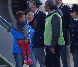 April 30, 2019 - Rome - PLANE COMING FROM MEASURED FOR HUMANITARIAN CORRIDOR PRATICA DI MARE- ROMA (SISTO-VAIRELLO/Fotogramma, ROME - 2019-04-29) p.s. la foto e' utilizzabile nel rispetto del contesto in cui e' stata scattata, e senza intento diffamatorio del decoro delle persone rappresentate (Credit Image: © Sisto-Vairello/IPA via ZUMA Press)