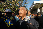 Thousands gather outside the LaSalle Parish court house and show their support for the Jena 6. Rev. Al Sharpton and Michale b from the radio organized the ralley in Jena Louisiana Thursday Sept. 2007.(Photo/© Suzi Altman)