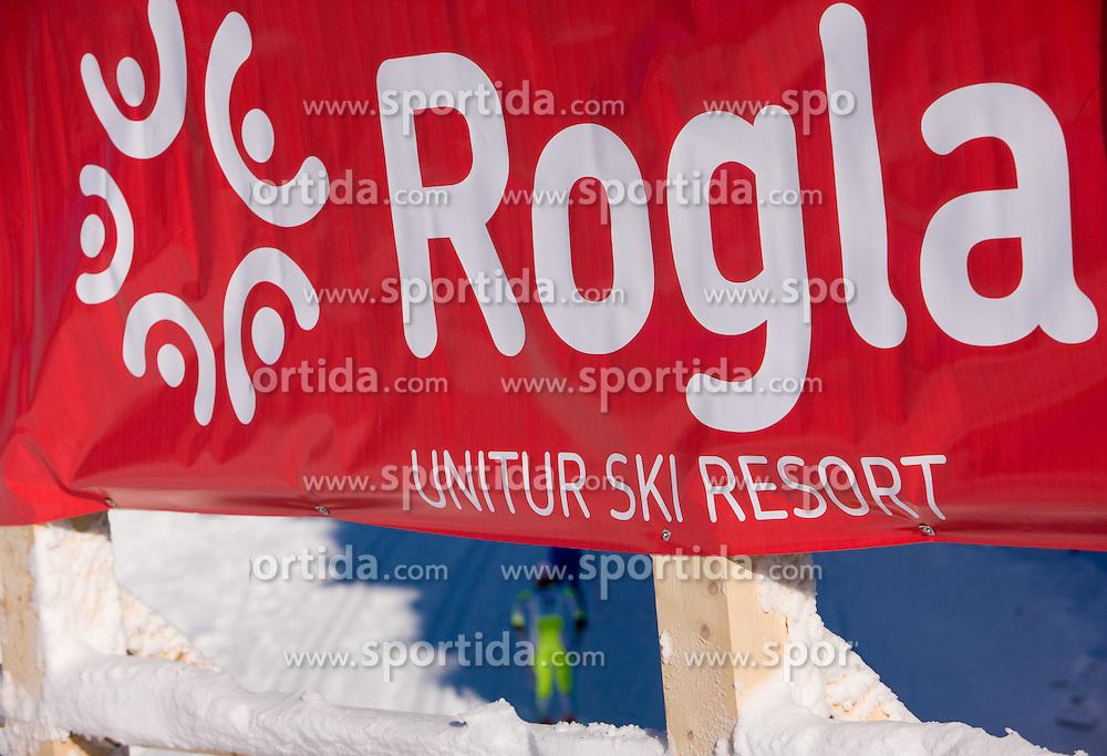 Logo of  Rogla at Ladies 15 km Classic Mass Start Competition of Viessmann Cross Country FIS World Cup Rogla 2009, on December 20, 2009, in Rogla, Slovenia. (Photo by Vid Ponikvar / Sportida)