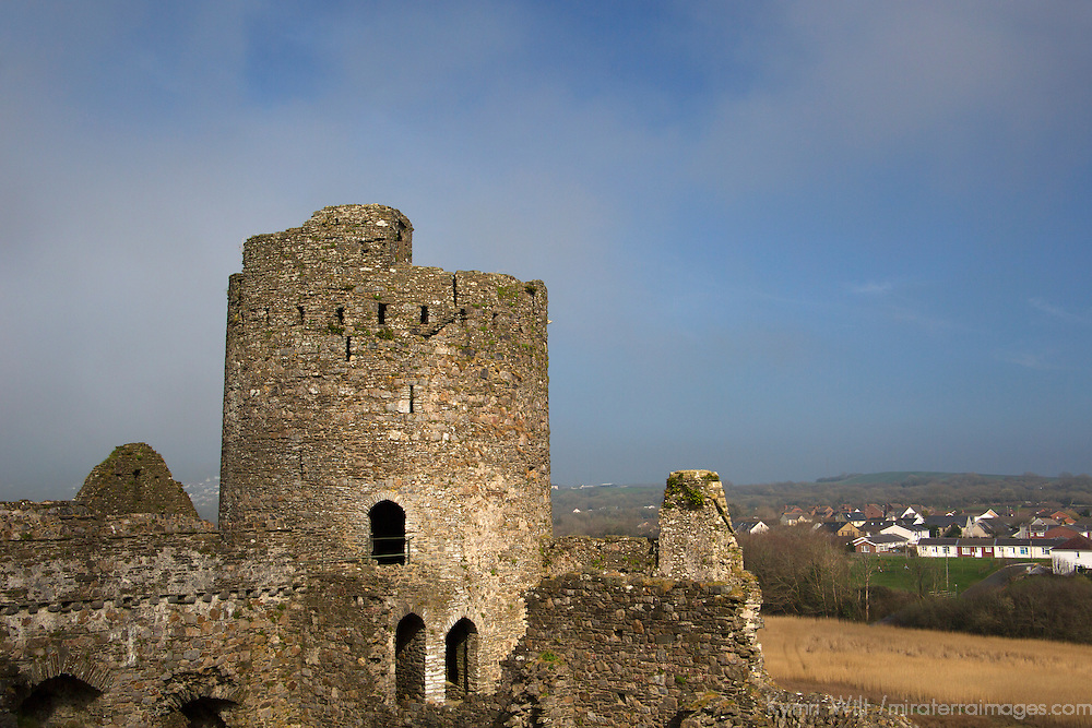 Europe, United Kingdom, Wales, Kidwelly. Kidwelly Castle.