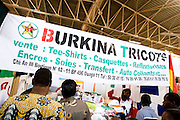 A stand selling clothes at the 22nd Salon International de l'Artisanat de Ouagadougou (SIAO) in Ouagadougou, Burkina Faso on Saturday November 1, 2008.