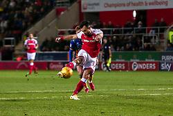 Richie Towell of Rotherham United shoots to score the equaliser against Shrewsbury Town - Mandatory by-line: Ryan Crockett/JMP - 18/11/2017 - FOOTBALL - Aesseal New York Stadium - Rotherham, England - Rotherham United v Shrewsbury Town - Sky Bet League One
