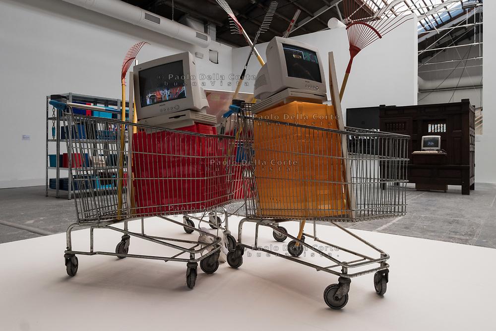 Venezia - 57 Biennale di Arti Visive. Palazzo delle Esposizioni. Raymond Hains. Le Jardinieres du Sud