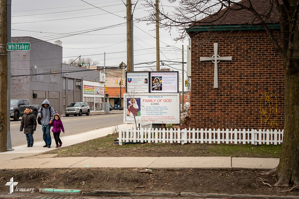 Exterior photograph of Family of God on Wednesday, March 28, 2018, in Detroit. LCMS Communications/Erik M. Lunsford