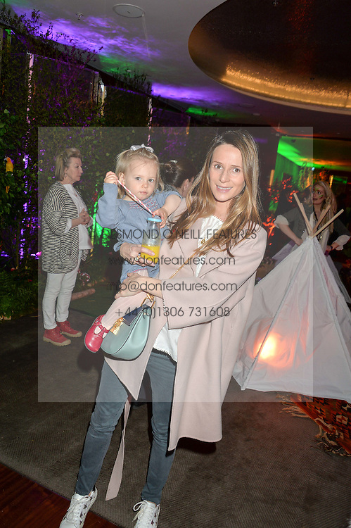 AMANDA VAUGHAN-LEE and her daughter HOLLY at Never Land Children's Party at the Bulgari Hotel, 171 Knightsbridge, London on 26th April 2016.