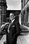 25/06/1963<br /> 06/25/1963<br /> 25 June 1963<br /> Deputy Joseph Leneghan T.D., arriving at the Dail, Leinster House, Dublin.