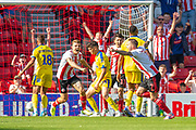 Chris Maguire (#7) of Sunderland AFC runs away to celebrate after scoring the second goal for Sunderland during the EFL Sky Bet League 1 match between Sunderland and AFC Wimbledon at the Stadium Of Light, Sunderland, England on 24 August 2019.