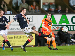 Falkirk's Blair Aston & Jon Daly..Half-time. Dundee Utd 0 v 0 Falkirk. Scottish Communities League Cup, 25/10/2011..Pic © Michael Schofield.