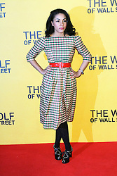 © Licensed to London News Pictures. 09/01/2014, UK. Kathryn Drysdale, The Wolf of Wall Street - UK film premiere, Odeon Leicester Square, London UK, 09 January 2014. Photo credit : Richard Goldschmidt/Piqtured/LNP