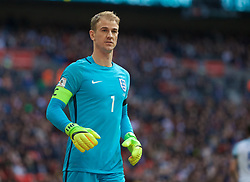 LONDON, ENGLAND - Sunday, March 26, 2017: England's goalkeeper Joe Hart in action against Lithuania during the 2018 FIFA World Cup Qualifying Group F match at Wembley Stadium. (Pic by Lexie Lin/Propaganda)