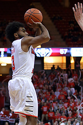 03 December 2016:  Keyshawn Evans(3) during an NCAA  mens basketball game between the New Mexico Lobos the Illinois State Redbirds in a non-conference game at Redbird Arena, Normal IL