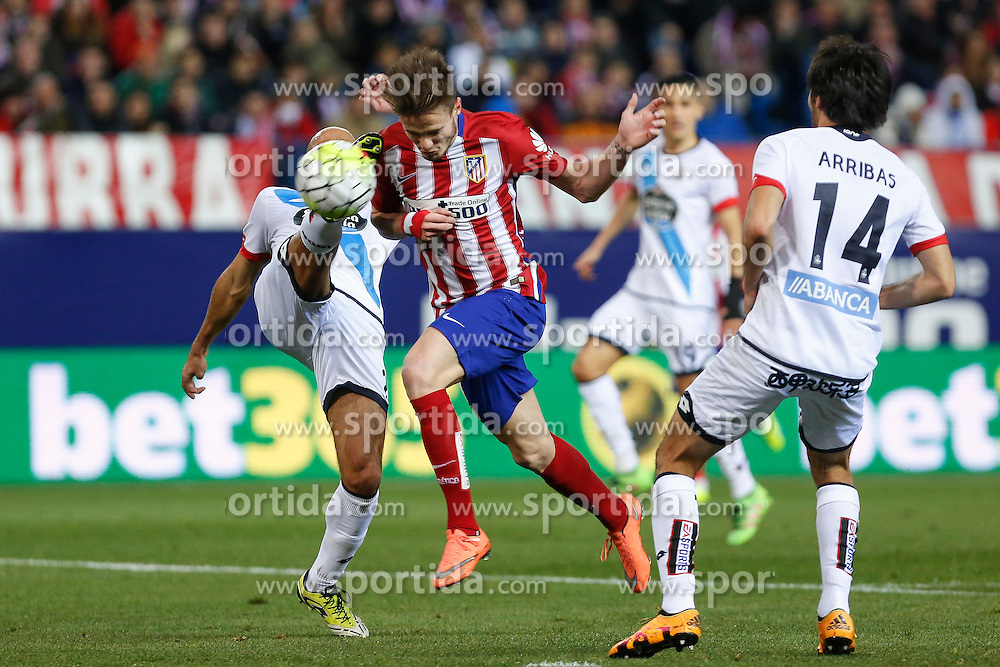 12.03.2016, Estadio Vicente Calderon, Madrid, ESP, Primera Division, Atletico Madrid vs RC Deportivo La Coruna, 29. Runde, im Bild Atletico de Madrid&acute;s Saul Niguez scores a goal // during the Spanish Primera Division 29th round match between Atletico Madrid and RC Deportivo La Coruna at the Estadio Vicente Calderon in Madrid, Spain on 2016/03/12. EXPA Pictures &copy; 2016, PhotoCredit: EXPA/ Alterphotos/ Victor Blanco<br /> <br /> *****ATTENTION - OUT of ESP, SUI*****