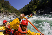 Whitewater rafting on the North Fork American River, CA.