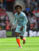 Willian (22) of Chelsea during the Premier League match between Southampton and Chelsea at the St Mary's Stadium, Southampton, England on 7 October 2018.