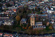 Nederland, Gelderland, Tiel, 15-11-2010;.Centrum van Tiel met de Sint Maartenskerk. Center of the village of Tile with church..luchtfoto (toeslag), aerial photo (additional fee required).foto/photo Siebe Swart