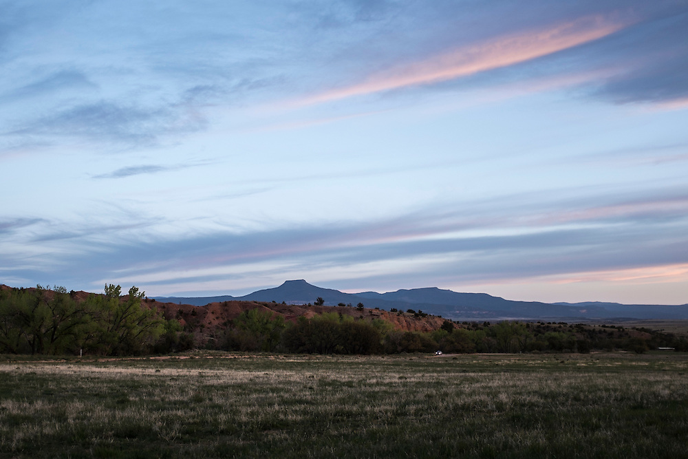 View of Pedernal. Exploring the vast landscapes of Northern New Mexico's Historic Ghost Ranch.