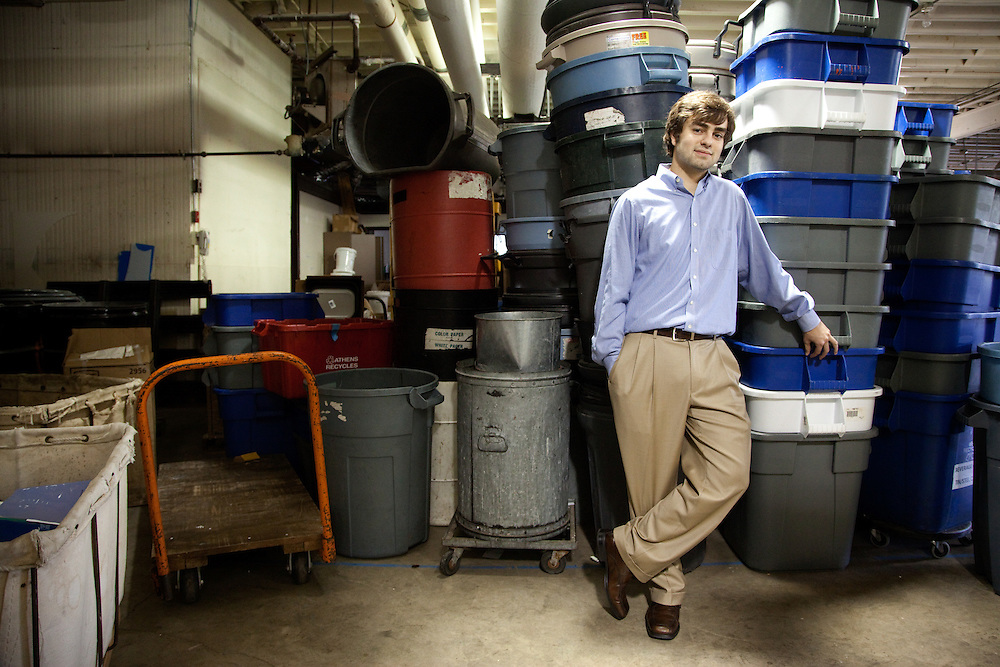 Cameron Waterhouse, COMS viewbook, Athens Recycling Center, Zero Waste Initiave
