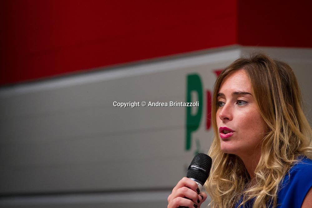 Bologna 01 Settembre 2014 - Festa dell'Unità - Mille giorni per il Futuro. Dibattito: Le riforme che servono. Nella foto Maria Elena Boschi
