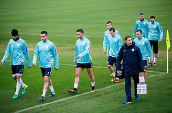 Bostjan Cesar, Miral Samardzic, Andraz Sporar, Dejan Trajkovski, Matic Crnic during Practice session of Slovenia team before World Cup Qualifying football match against National teams of Malta, on November 7, 2016 in NNC Brdo pri Kranju, Slovenia. Photo by Vid Ponikvar / Sportida