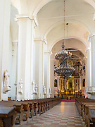 Interior view of the Vilnius University Cathedral, in Senamiestyje/Old Town, Vilnius, Lithuania