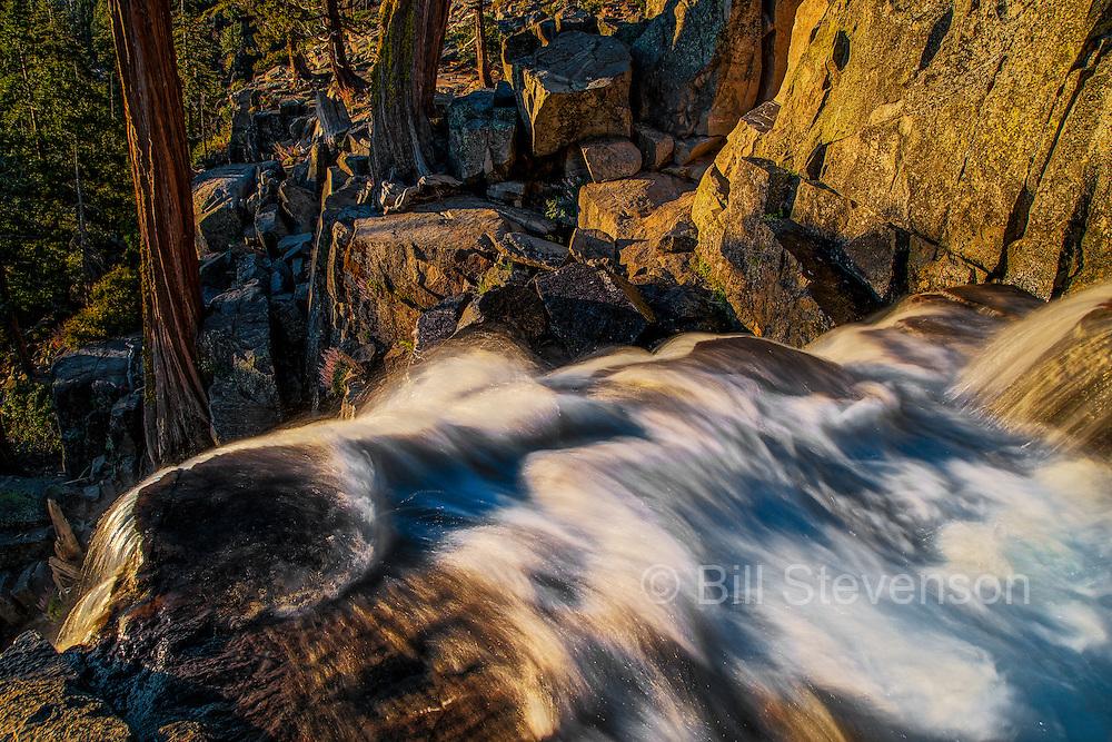 A long exposure photo of Eagle Falls near Lake Tahoe, Ca.