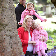 Spring time with bluebells and tree blossom, Maternity, Mum, Dad, Sisters Family Photograph Wandsworth, South West London.