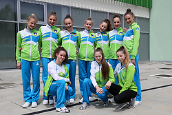 Team at practice of Slovenian Rhythmic Gymnastics Team before 36th European Rhythmic Gymnastics Championships in Budapest - Hungary, on May 15, 2017 in Gimnasticna dvorana, Ljubljana, Slovenia. Photo by Matic Klansek Velej / Sportida