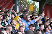 Port Vale fans during the EFL Sky Bet League 2 match between Salford City and Port Vale at Moor Lane, Salford, United Kingdom on 17 August 2019.